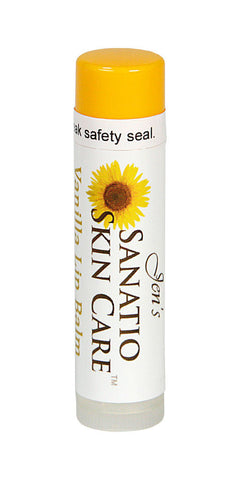 Vanilla Organic Lip Balm made with Organic Oils & Butters - Sanatio Skin Care Organic