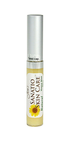 Clear Honey Mint Organic Lip Gloss - Sanatio Skin Care Organic