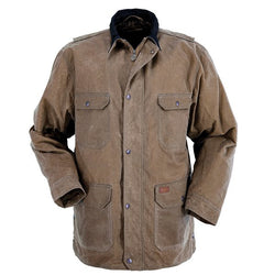Outback Men's Gidley Jacket - Waterproof & Breathable Affixed Cape Outerwear