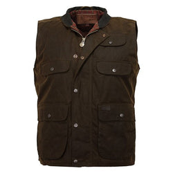 Outback Men's Overlander Vest - Waterproof Snap Flap & Yarn Dyed Cotton Lining
