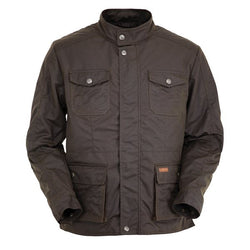 Outback Men's Denali Moto Jacket - Marshall Cloth Fully Lined Stand Collared
