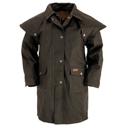 Outback Kid's Duster - Waterproof & Breathable Cotton Lined Coat With Storm Flap