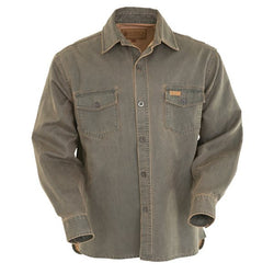 Outback Men's Arnaksas Shirt Jacket - Poly/Cotton Casual Western Style Outerwear