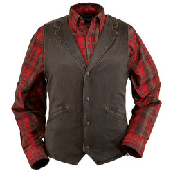 Outback Men's Arkansas Vest - Canyonland Polyester Cotton Fully lined Waistcoat