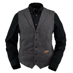 Outback Men's Jessie Vest - Formal Style Button Waistcoat With Sateen Lining