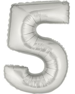 "Mylar 40"" Silver Numbers"