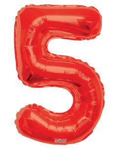 Mylar Red Numbers 34""