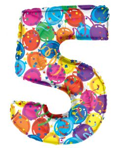 "Mylar 40"" Party Numbers"