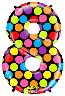 "Mylar 40"" Polka Dot Numbers"