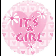 It's A Girl Pink Heart Foil Balloon 18""
