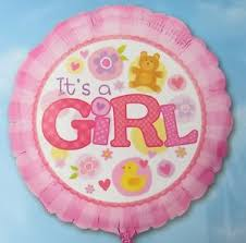 "Its A Girl Pink 18"" Foil Balloon"