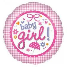 "Baby Girl Gingham 18"" Foil Balloon"