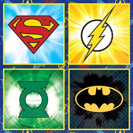 Justice League Bev Napkins 16ct