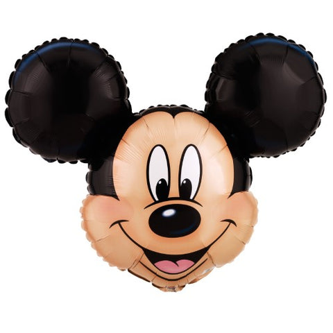 Disney Mickey Mouse Shaped Head Foil Balloon 27""
