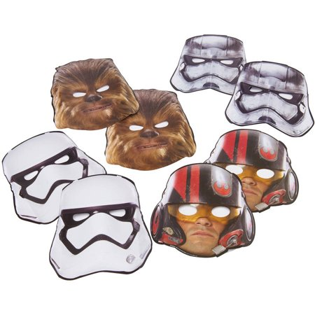 Star Wars Episode VII Paper Masks 8ct