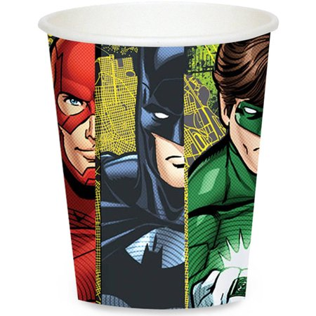 Justice League 9oz Paper Cup 8ct