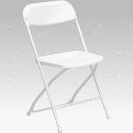 Folding White Chair Rental