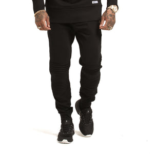 ANARCHY BIKER TRACKPANT - Black