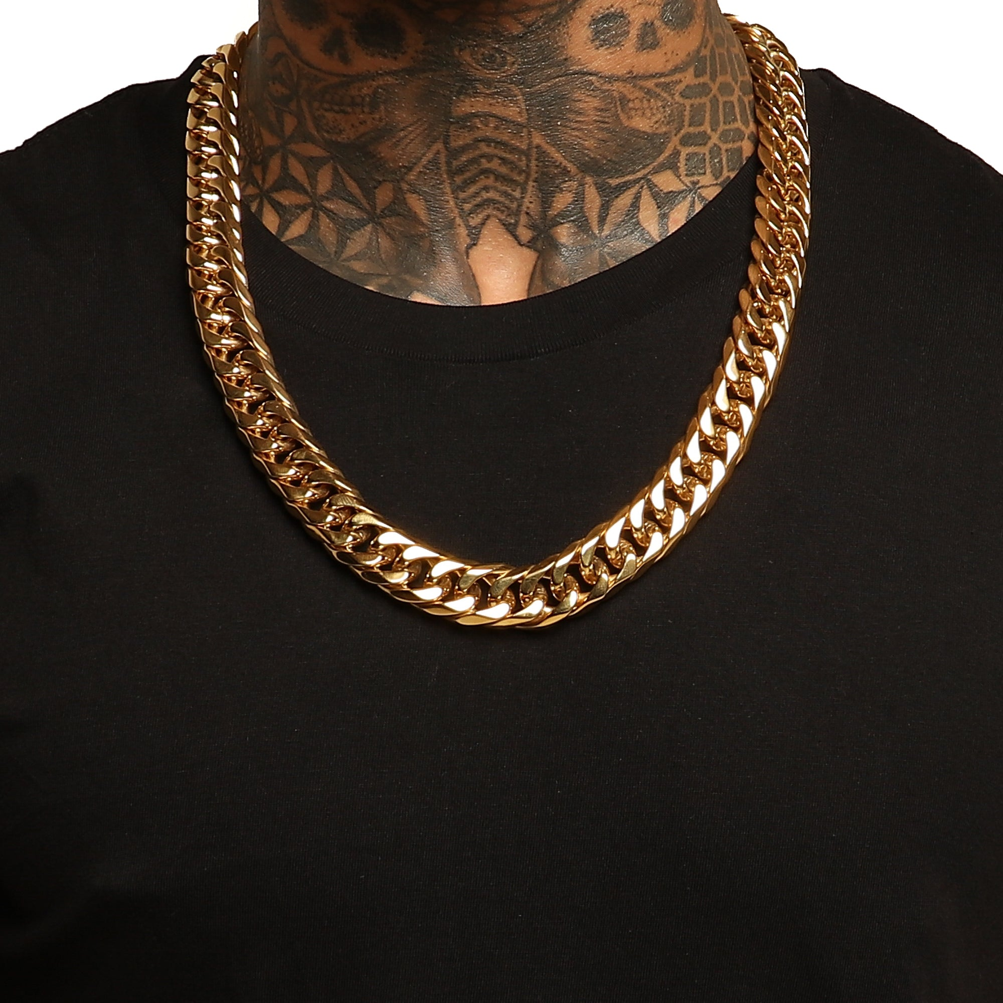 "26"" CUBAN LINK 18MM CHAIN - Gold Plated"