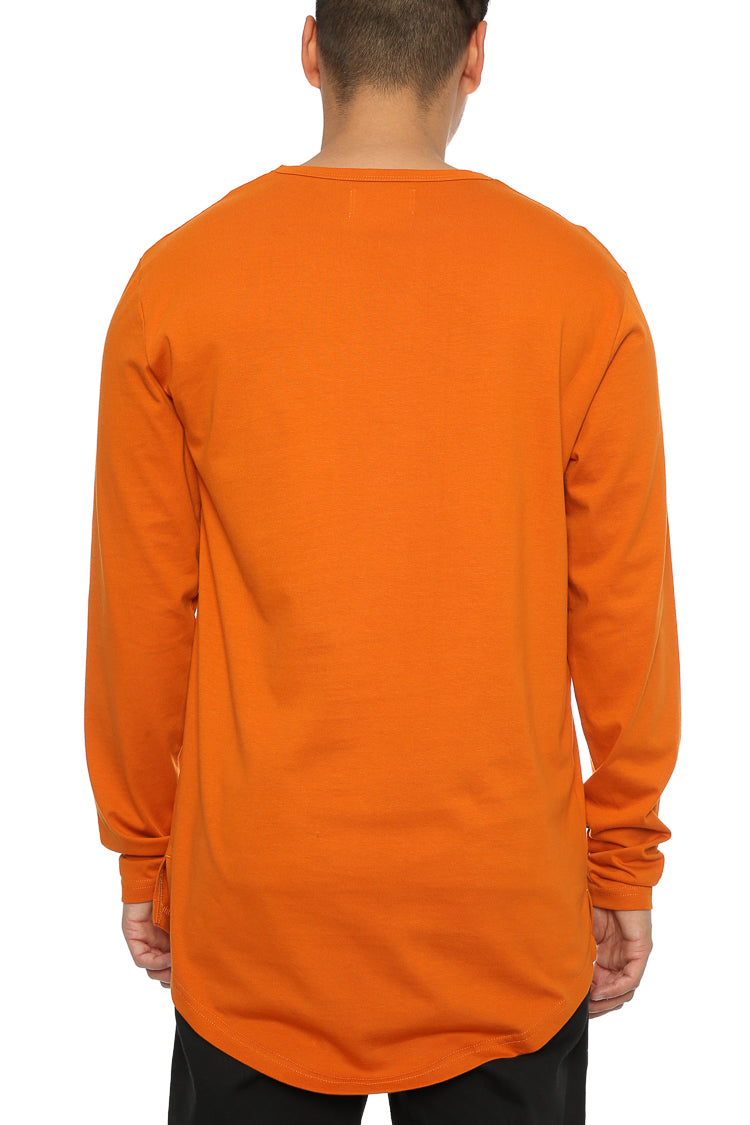 BASSICK LS EL DUPLO 2 TEE - Mud Orange