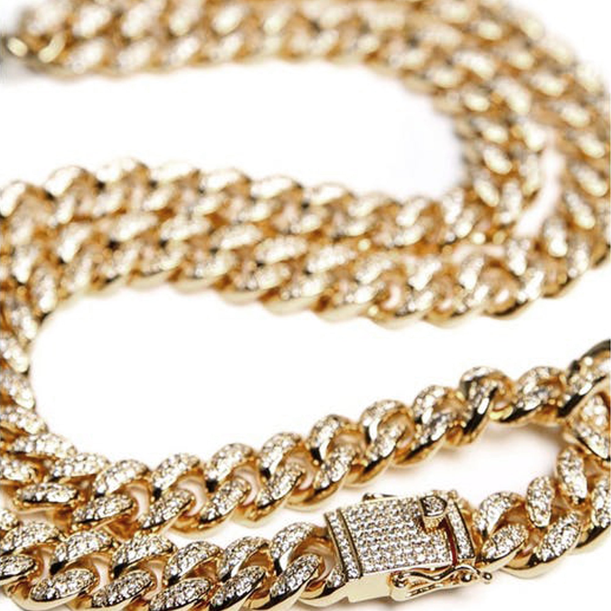 "DIAMOND 28"" CUBAN LINK 12MM - 18k Gold Plated with CZ"