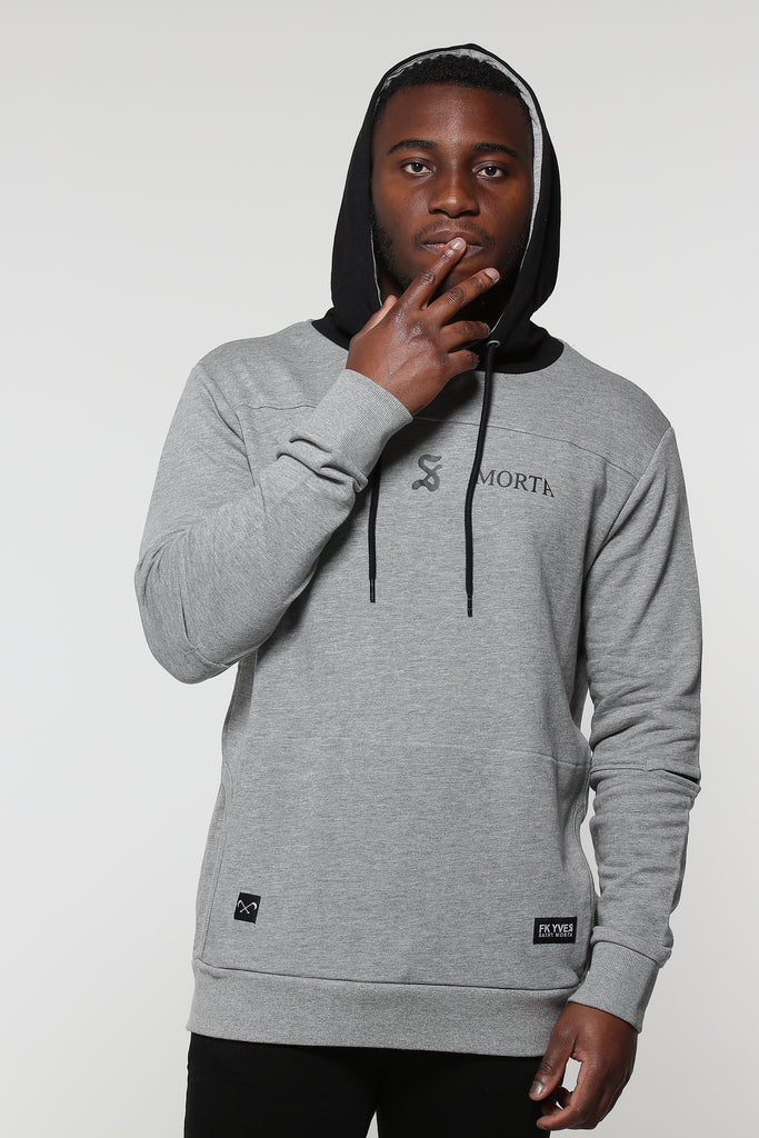 SAVIOUR NEW AGE HOODY - Grey/Black