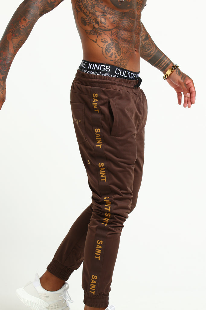 HERITAGE TRACKPANT - Brown