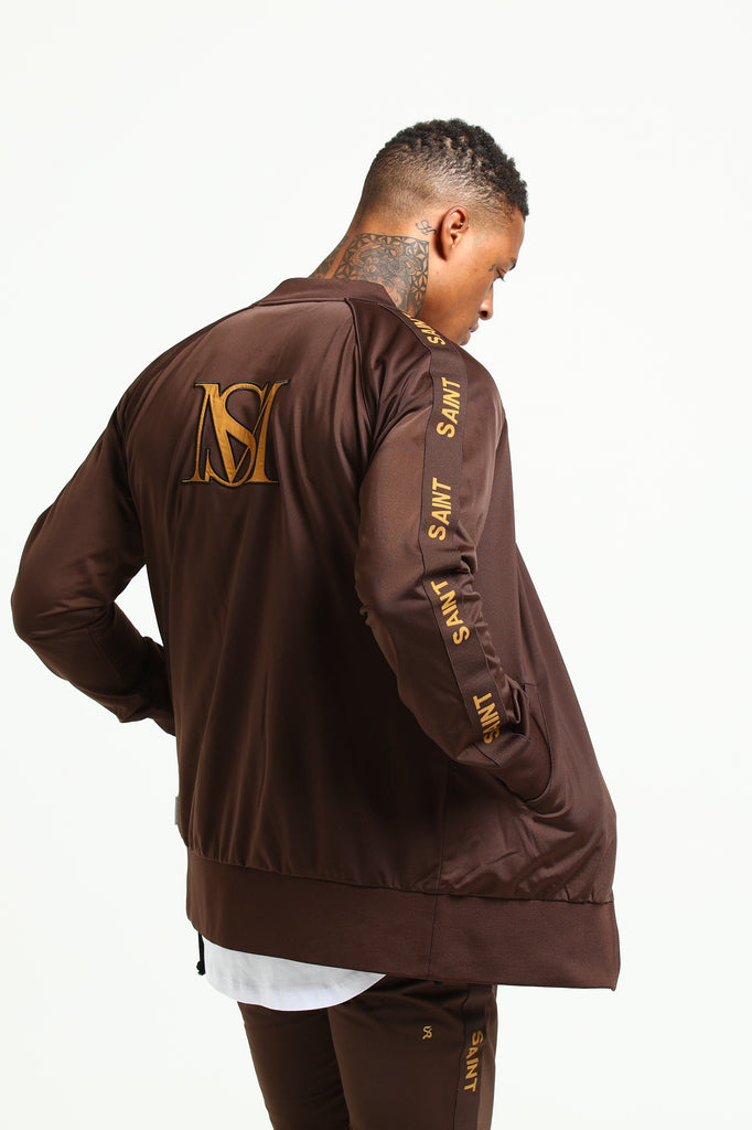 HERITAGE TRACK JACKET - Brown/Beige