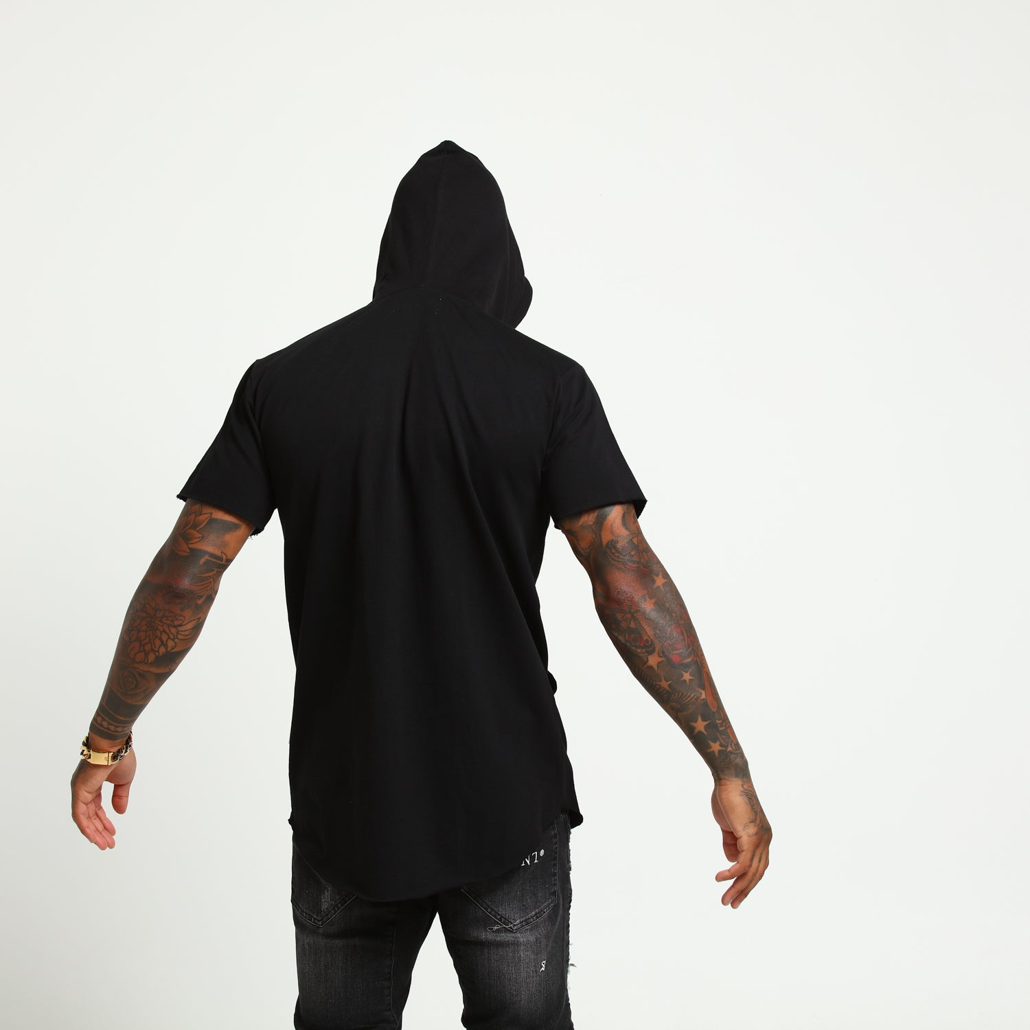 BOUQUET HOODRAT TALL TEE - Black