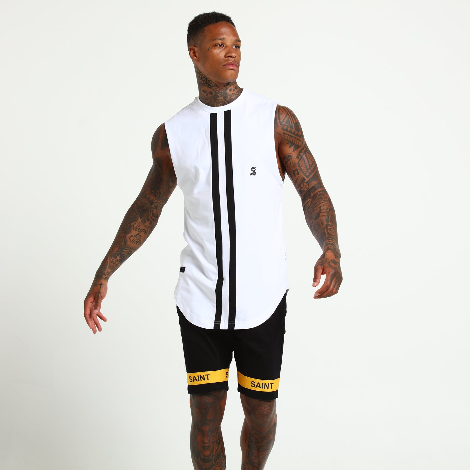 ONFIELD MUSCLE - White/Black
