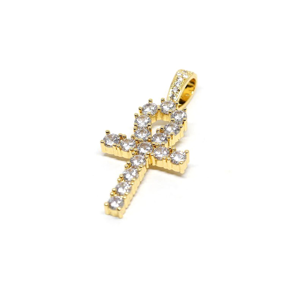 ANKH CROSS PENDANT - 18k Gold Plated with CZ