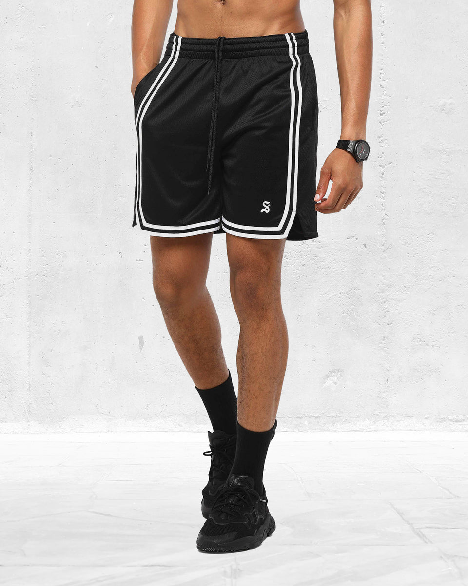 AION SPORT BASKETBALL SHORT - Black/White