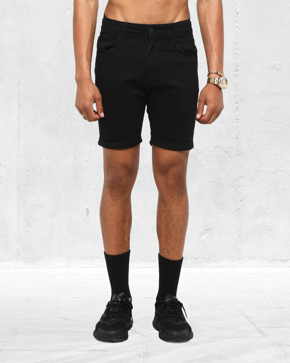 ETHOS DENIM SHORT - Black
