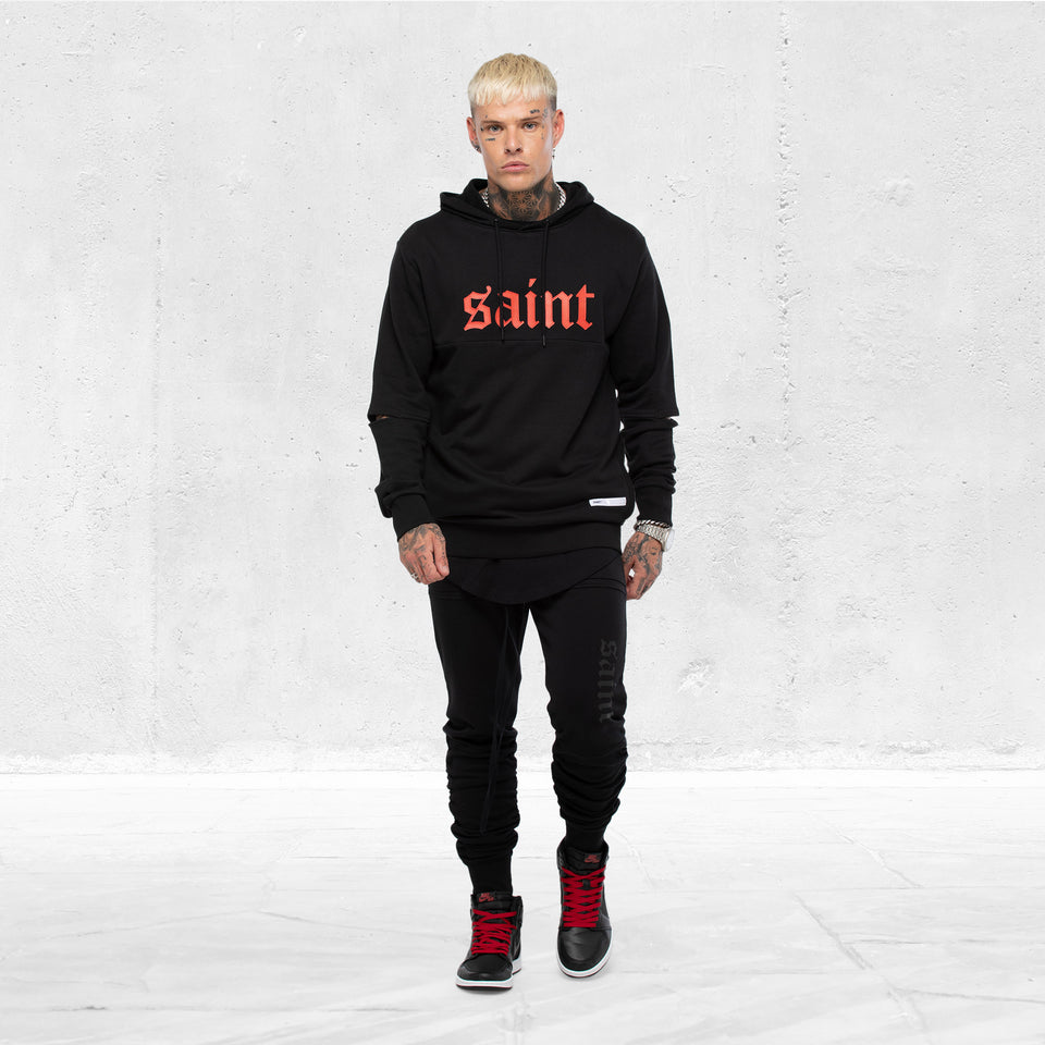 CAMBRONNE HOODY - Black/Red