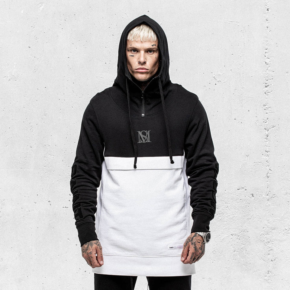 JUSTICE NULL X HOODY - Black/White