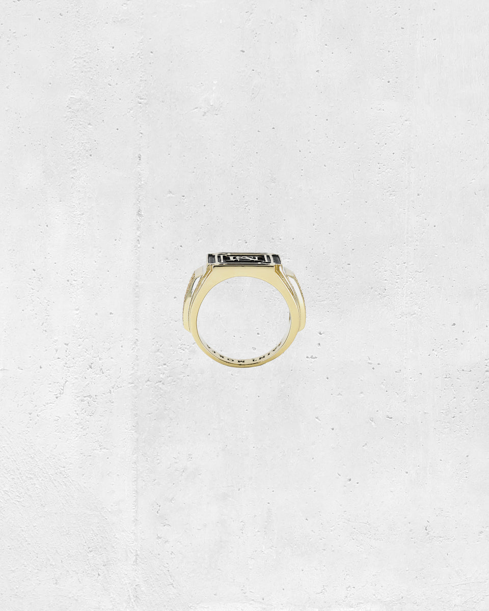 ORNATE CHAMPIONSHIP RING - Gold/Black