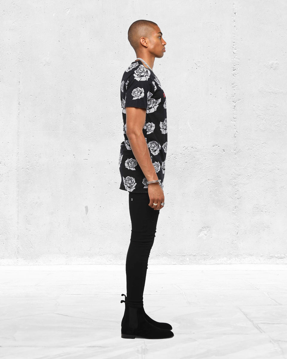 PLEASURES TALL TEE - Black/White