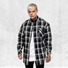 PRIMA LS FLANNEL SHIRT - Grey/Black/White