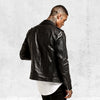 Saint Morta Roadhouse Leather Biker Jacket Black