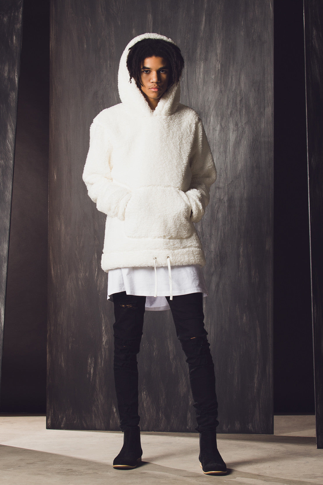 SHERPA HOODY - Off White