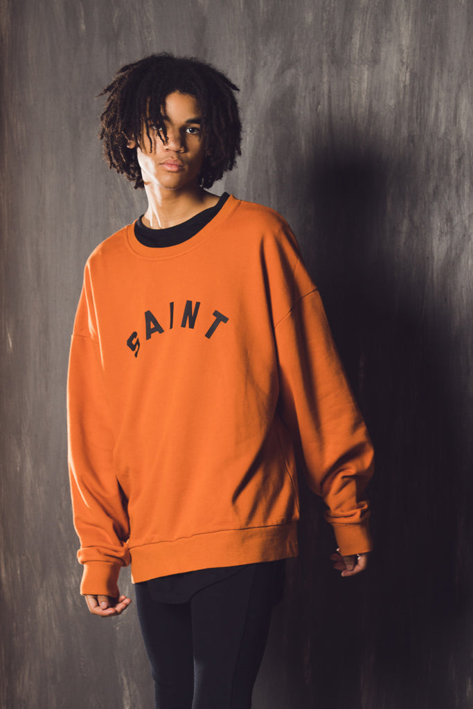 STANDARD OVERSIZED SWEATER - Orange