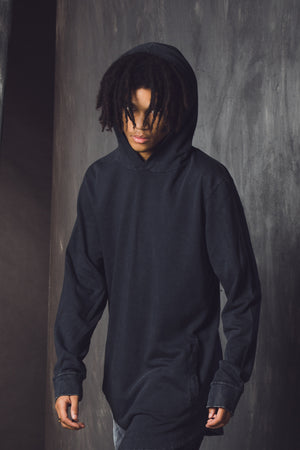 COVEN 3.0 LS HOODY - Black Acidwash