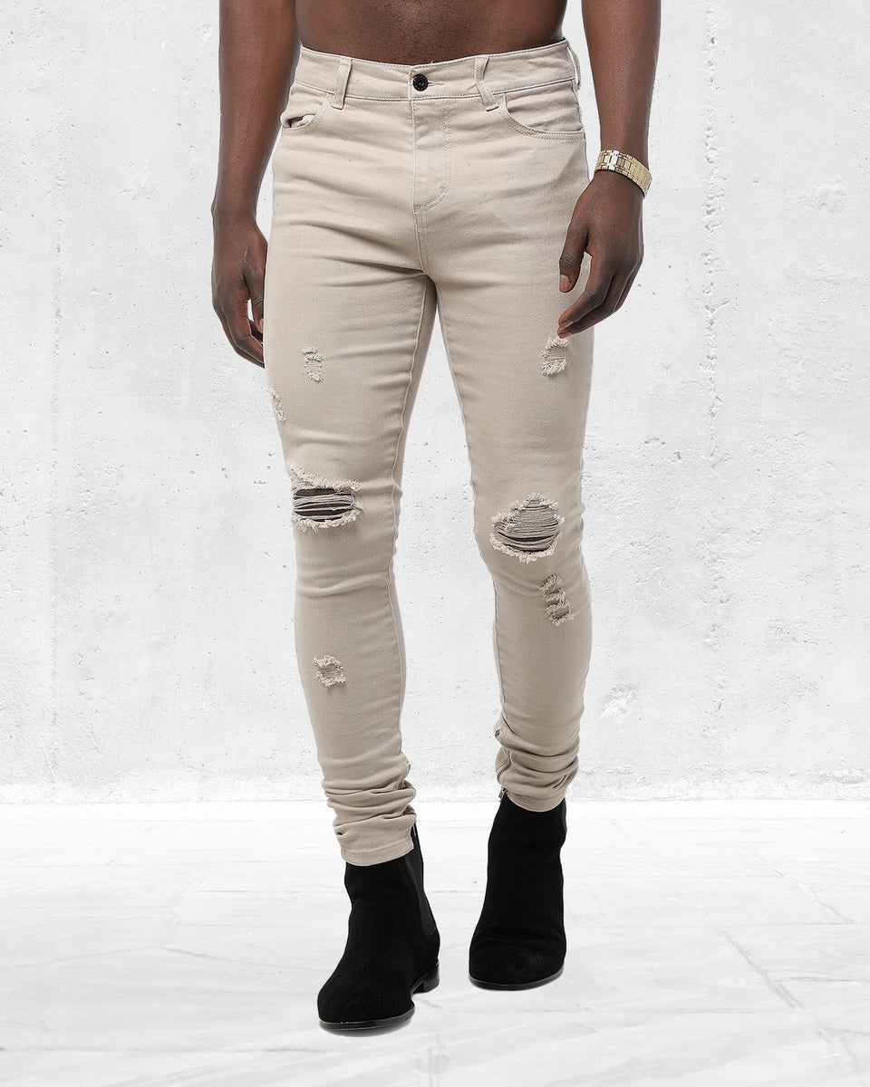 SLASHER S SKINNY JEANS - Bone