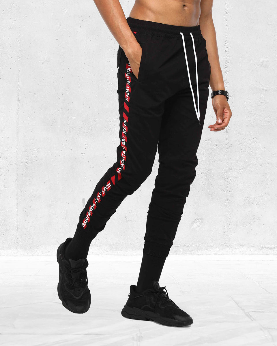 TRANSFER X JOGGER - Black/Red
