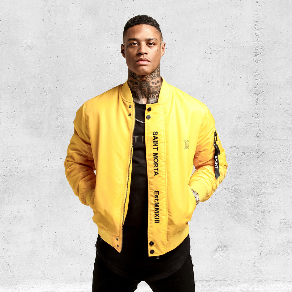 Cachet Bomber Jacket - Yellow/Black
