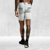 Distressed Biker Short Light Blue