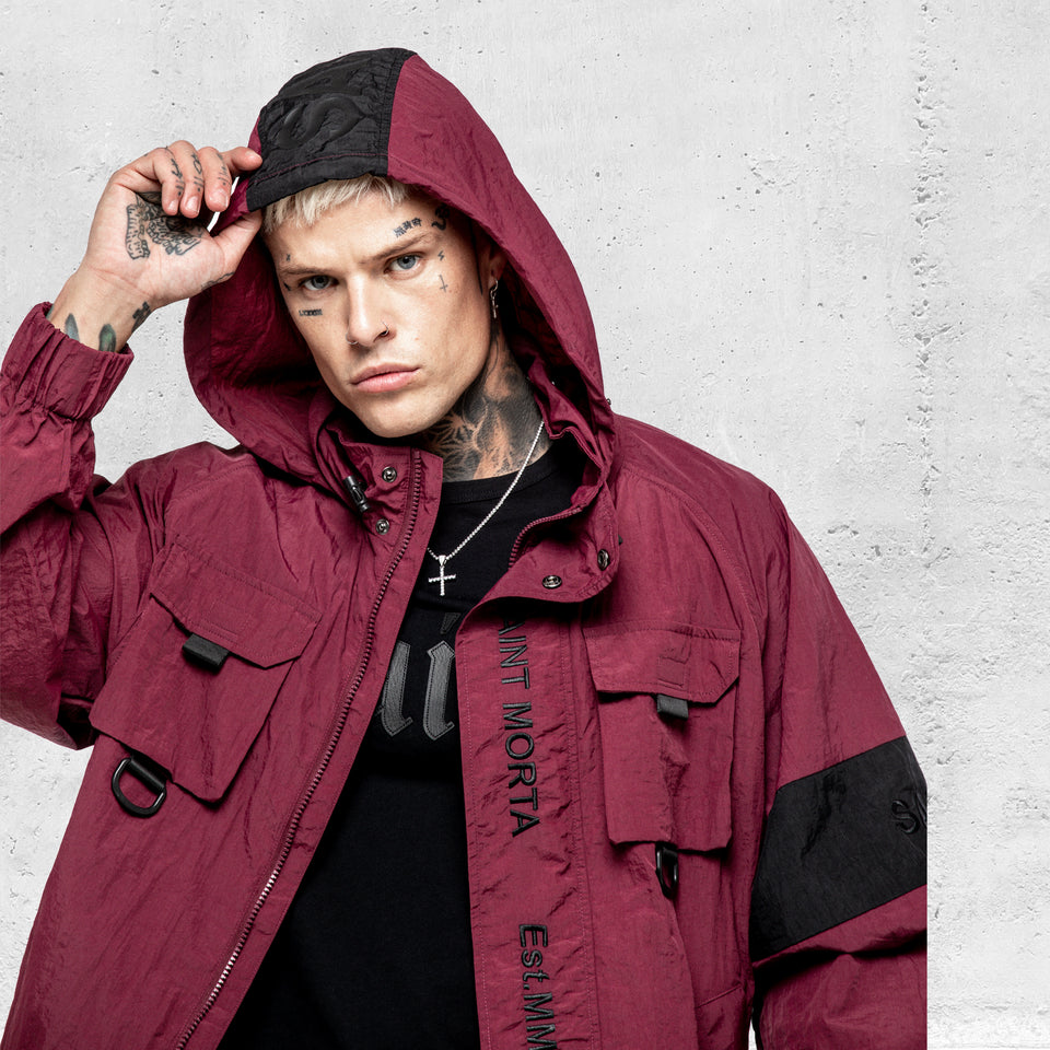 Methods Utility Windbreaker - Burgundy