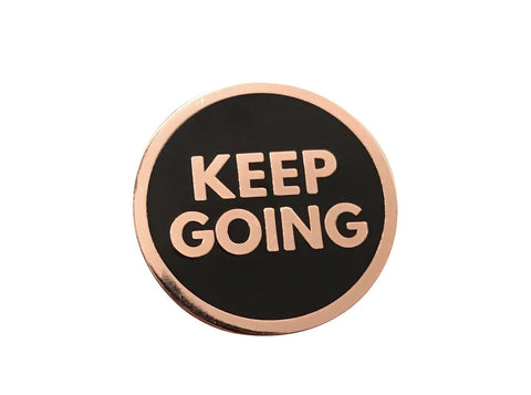 Keep Going Lapel Pin - Rose Gold