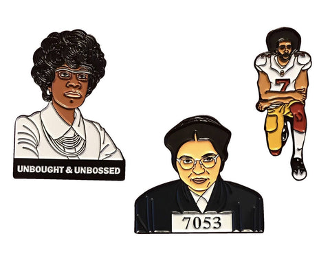 Complete Be BOLD Series Pin Set - Rosa, Shirley, & Colin - Radical Dreams Pins
