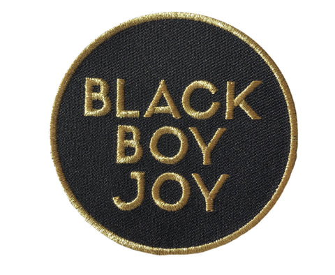 Black Boy Joy Patch - GOLD - Radical Dreams Pins